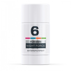 LECO Дезодорант-антиперспирант NIGHT FORCE, 6 for men 75 мл (XL 10015)