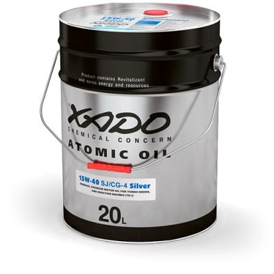 Мінеральна олива 15W-40 SJ/CG-4 Silver XADO Atomic Oil