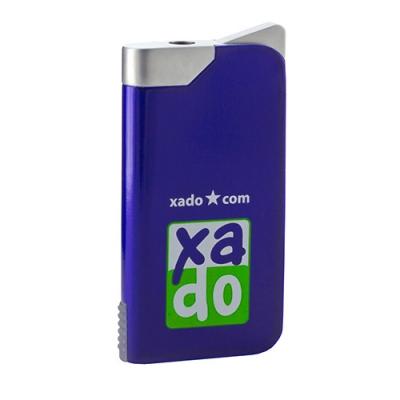 Прямокутна запальничка з логотипом XADO, синя