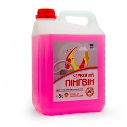 Жидкость для омывания стекол автомобиля Красный Пингвин (лето) 5 л (XB 50012)